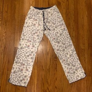 Victoria's Secret Pajama Pants S White Navy Floral
